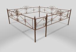 Ограда ОМТ 016 витая труба Bronze