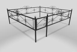 Ограда ОМТ 016 прямоугольная труба