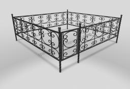 Кованая оградка на могилу ОМК 009