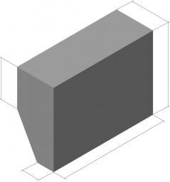 Утяжелитель бетонный 2 УТК 1420-24-2 2400х2090х1015