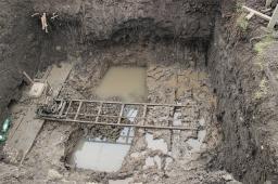 Работы по устройству ГНБ проколов под железной дорогой