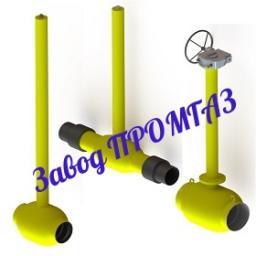 Краны шаровые 10с10п1 с ПЭ для подземной установки стандартнопроходные
