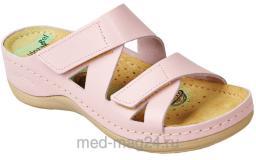Босоножки женские сабо LEON- 906,розовые