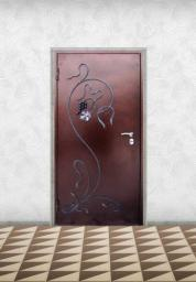 Двери входные с кованными элементами