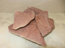 Малиновый кварцит камень для бани, 20 кг