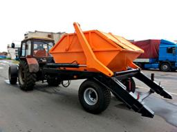 Мусоровоз бункеровоз для трактора
