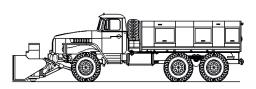 С двигателем ЯМЗ-238Б-14 на шасси УРАЛ 55571