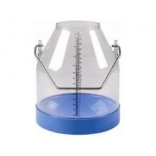 Ведро доильное прозрачное 30л. с мерной шкалой (InterPuls)