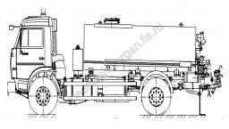Автогудронатор на шасси КамАЗ (V=7 м3)