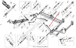 Гидроцилиндр поворота стрелы НО-9А03.10.000