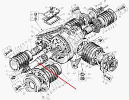 Вал ротора Д-902.11.00.003