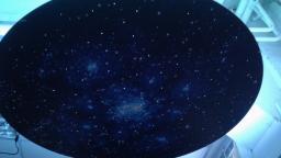 Подвесной фибероптический модуль «Сказочная галактика» 120х120 см