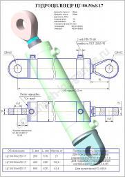 Гидроцилиндр стрелы ЦГ 80.50 х400 .17