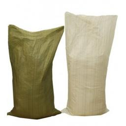 Мешки для мусора строительные полипропиленовые зелёные и белые в ассортименте