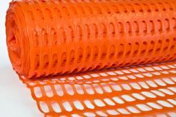 Сетка для сигнальных ограждений оранжевая
