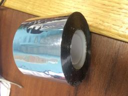 металлизированный скотч (на маленькой бобине) намотка 50 пм