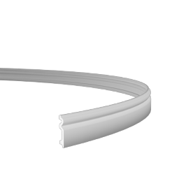 Гибкий полиуретановый плинтус (98*16*2000) Европласт 1.53.109