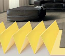 Подложка гармошка желтая 2 мм (10,5 м2)