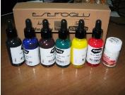 Краски для рисования по воде 6 шт + Загуститель порошковый 25 мл для приготовления 2 литров готового раствора