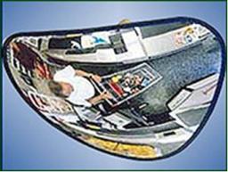 Зеркало сферическое обзорное для помещений треугольное 330*330*380. Низкая цена, звоните прямо сейчас. 248-04-04, 8-913-715-88-32.