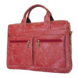 Сумка для ноутбука кожаная Carlo Gattini Elegante Lugano red