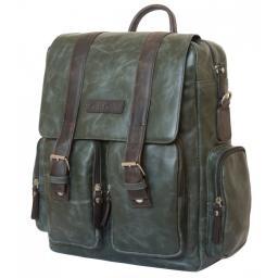 Кожаный рюкзак-сумка Carlo Gattini Militare Fiorentino green