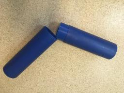 Труба синяя с резьбой ду 125х7,4