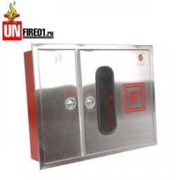 Пожарные шкафы ШПК-315 НЗ из нержавеющей стали для пожарного крана и огнетушителя навесной закрытый или встроенный
