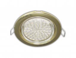 Светильник встраиваемый Ecola GX53, 38х106мм, золото
