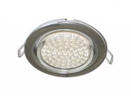Светильник встраиваемый Ecola GX53, 38х106мм, сатин-хром
