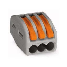 Клеммная колодка с рычагом EK СМК 222-413 3х(0,08-2,5мм2) тип WAGO UKZ-001-413