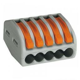Клеммная колодка с рычагом IEK СМК 222-415 5х(0,08-2,5мм2) тип WAGO UKZ-001-415