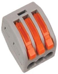 Клеммная колодка с рычагом Smartbuy СМК-413 3х(0,08-2,5мм2) тип WAGO SBE-cwcc-3