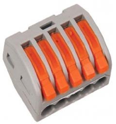 Клеммная колодка с рычагом Smartbuy СМК-415 5х(0,08-2,5мм2) тип WAGO SBE-cwcc-5