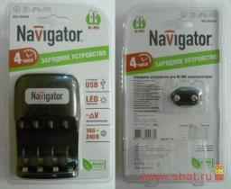 З/у Navigator R03/R6x2/4 (600mA) мпроц/откл, доп USB 94473 NCH-404USB