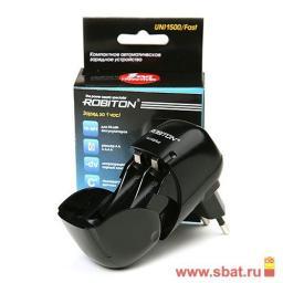 З/у Robiton R03/R6x1/2 (1500mA) таймер/откл, Uni1500/Fast