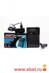 З/у Robiton R03/R6x2/4 (800mA) таймер/откл, ф/разряда, доп 12V, Smart S100