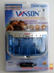 З/у Vanson R03/R6/R14/R20x1-4, 9Vx1-2 (300mA) мпроц/откл, доп 12V, V-2299