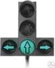 Светофор светодиодный транспортный (Д=300 мм) + 2 доп. секции (стрелка вправо и стрелка влево)