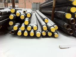 Стальная труба в ППУ изоляции в ПЭ оболочке д=630х9/800 мм