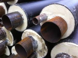 Стальная труба в ППУ изоляции в ПЭ оболочке д=325х8/500 мм