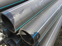 Труба водопроводная напорная из полиэтилена ПЭ 100 SDR21 PN 8,0 160х7,7мм