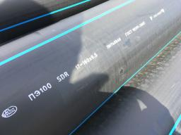Труба водопроводная напорная полиэтилен ПЭ 100 SDR13,6 PN 12,5 160х11,8мм