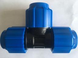 Тройник компрессионный внутренняя резьба 20x3/4x20