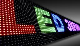 Бегущая строка. LED экран. Вывеска светодиодная, Объемные буквы.