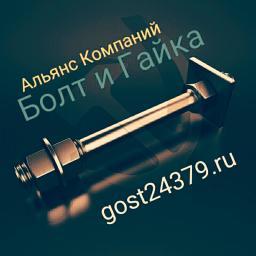 Фундаментный болт с анкерной плитой тип 2.1 м24х800 сталь 3сп2 ГОСТ 24379.1-2012