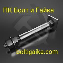 Фундаментный болт с анкерной плитой тип 2.2 м56х1000 сталь 3сп2 ГОСТ 24379.1-2012