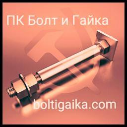 Фундаментный болт с анкерной плитой тип 2.2 м56х2120 сталь 3сп2 ГОСТ 24379.1-2012