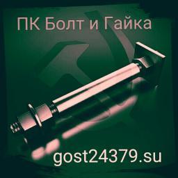 Фундаментный болт с анкерной плитой тип 2.2 м72х1320 сталь 3сп2 ГОСТ 24379.1-2012