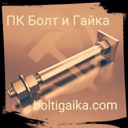 Фундаментный болт с анкерной плитой тип 2.2 м80х1800 сталь 3сп2 ГОСТ 24379.1-2012